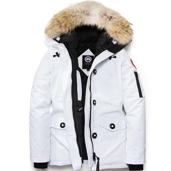 Nouveau Deisgner Femmes Blanc GOOSE Down Chaud Dames Sports de Plein Air Down Veste Femme Haute Qualité Hiver Froid En Plein Air Ski Park Manteau