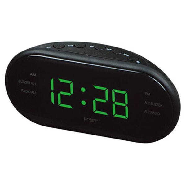 Digital AM FM Radio Red With EU Plug LED Alarm Clock Radio Home Multi Function Fashion LED Alarm Clock Home Supplies