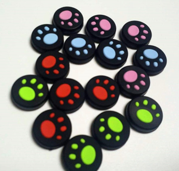 best selling 5 color Cat Claw Rubber Silicone Joystick Cap Thumb Stick Grip Grips Caps For PS4 PS3 Xbox one 360 Controller for Switch NX NS 300PCS LOT
