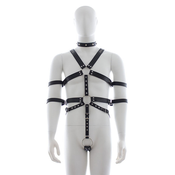 MaryXiong Sexy Body Harness Slave Fetish Wear Adult Game PU Leather Bondage Restraint Gear BDSM S&M Firting Sex Toys for Couples