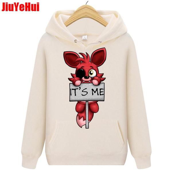 Spring Autumn it's me Kawaii FNAF Plush Foxy Men Hoodies Hip Hop Sweatshirts Man Children kids  Clothing Teenage Boy