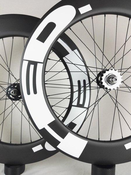 Envío Gratis !! hed Ruedas de Carbono 88mm Clincher pista tubular Bicicleta de Carbono Rueda 700C 23mm ancho pista Bicicleta Fija Engranaje