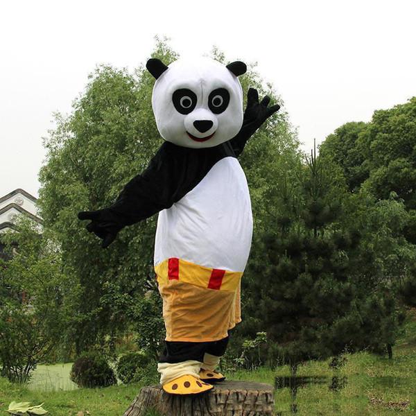 2018 Fabbrica diretta vendita Kung Fu Panda PO mascotte Costume fatto a mano personaggio dei cartoni animati formato adulto spedizione gratuita