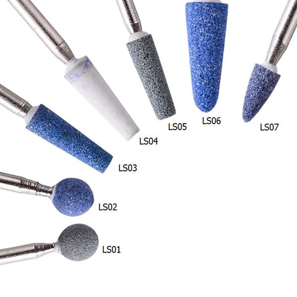 1pc Quartz Nail Drill Bit Rimozione smalto gel UV 3/32