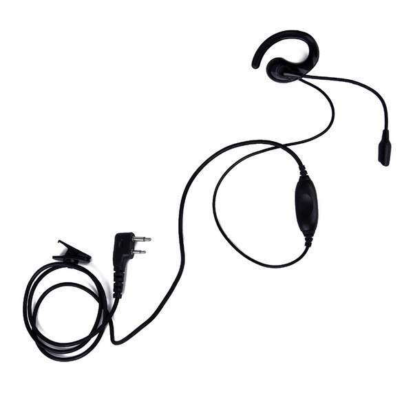 Imitation K Head AB Ear Hook Earpiece with 2 Pin PTT Microphone Headset For KENWOOD Baofeng PUXING HYT Portable Two Way Radio