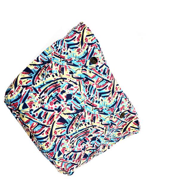 MOGU LVXING Inner Bag Lining for Obag Floral Waterproof Canvas Fabric Handbag Insert Organizer for O bag