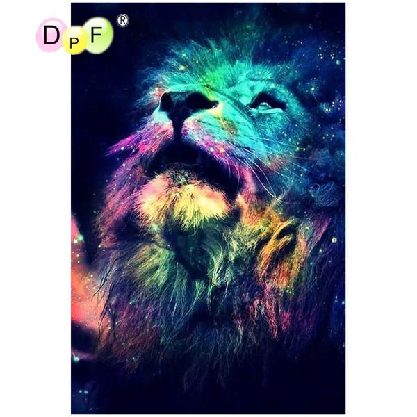 DPF 5D full Round DIY Magic Cube Cross Stitch Diamond Painting Mosaic art crafts star light lion look universe Diamond Embroidery Decor gift