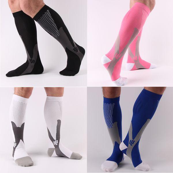 Cycling Soccer Socks Long Sleeve Unisex Leg Support Stretch Magic Compression Fitness Football Basketball Socks Performance Running Sports