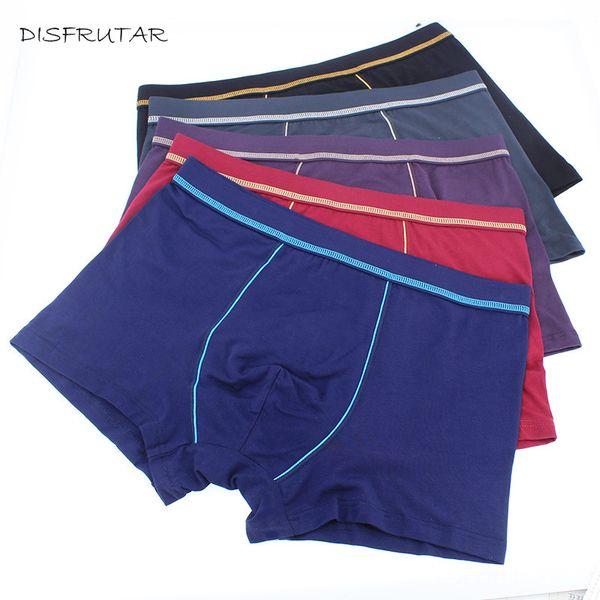 Cueca Boxers Shorts Men 5pcs/lot Solid Cotton Men Panties Underpants Male Boxer Underwears Ropa Interior Hombre Plus Size XL-5XL