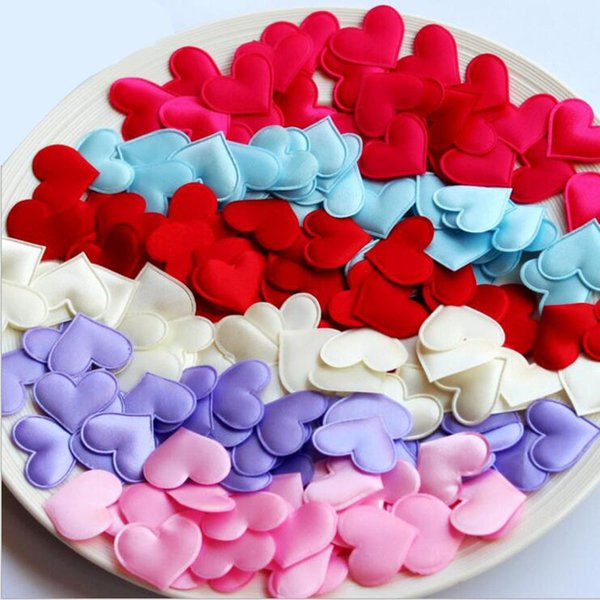 2000pcs Fabric Heart dia 3.2x3.2cm Wedding Party Confetti Table Decoration birthday party Decorative Supplies
