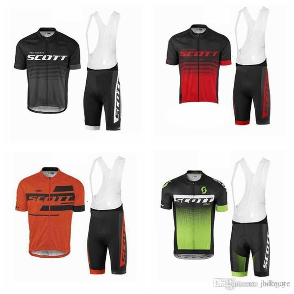 SCOTT team Cycling Short Sleeves jersey (bib) shorts sets New Hot Sale summer mountain bike cycling sweatshirt comfort F0113