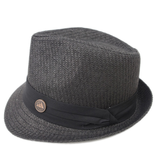EPU-MH1837 Stingy Brim Man and woman Breathing straw fedora Hat Ladies Street Fashion High Quality Trilby Jazz Hat casquette