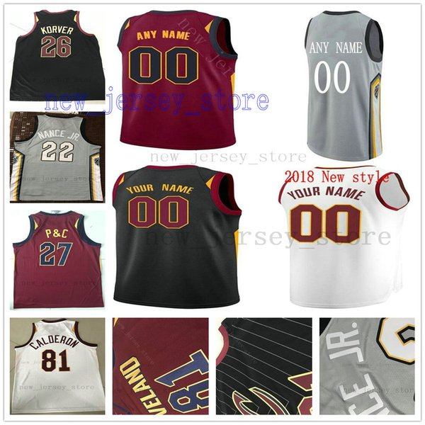 huge selection of ecc2b 93488 2018 Custom College Printed Gray City 13 Tristan Thompson Jersey 16 Cedi  Osman Kyle Korver David Nwaba Billy Preston Isaiah Taylor Collin Sexton  From ...