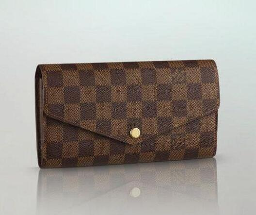 N63209 checkered fabric ladies SARAH wallet fashion envelope wallet OXIDIZED LEATHER CLUTCHES EVENING LONG CHAIN WALLETS COMPACT PURSE