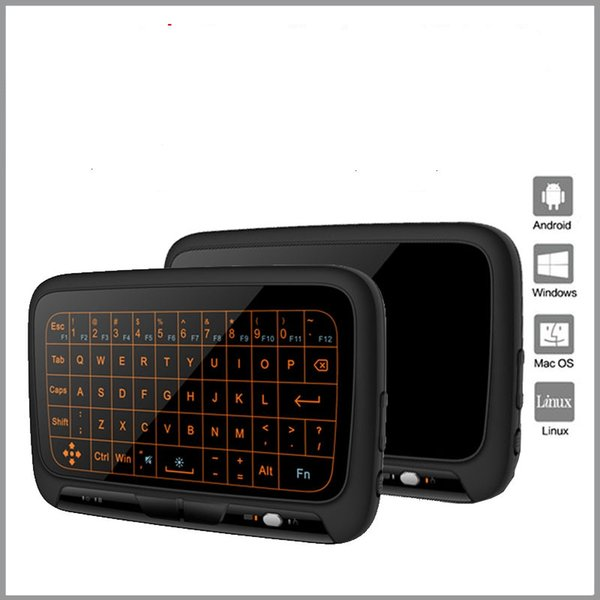 H18+ Back light Mini Wireless Keyboard Cheap Backlit Fly Air Mouse Touchpad 2.4G Full Screen TV Box Mobile Game Remote Control Controller