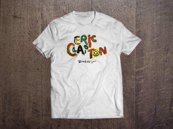 ERIC CLAPTON Atrás do Sol T-shirt Tee YARDBIRDS CREAM GIBSON GUITARRA Camisa Dos Homens Novos de Algodão T-Shirt 2018 dos homens Novos T camisa