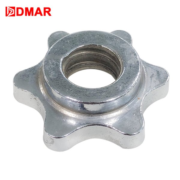 DMAR 2pcs Standard Weight Dumbbell barbell nut spinlock collars screw Clamps Collars six angle accessories