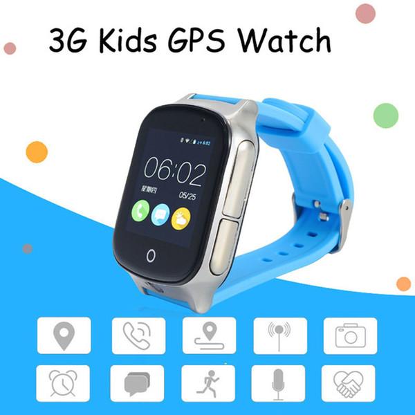 A19 Kid Précise 3G Sim Smart Montre GPS A19 support GPS WIFI SOS LBS Caméra Locate Finder appel d'urgence pour 3G enfant smartwatch