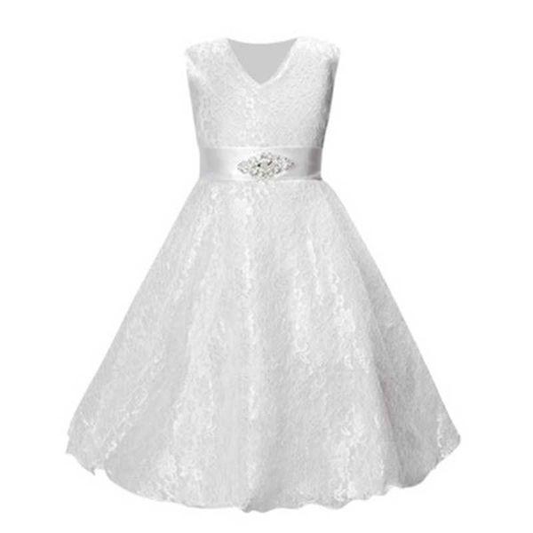 Ropa de fiesta para niñas ropa para niños vestido de novia de princesa de encaje sin mangas de verano vestido de fiesta de fiesta para niñas adolescentes bien