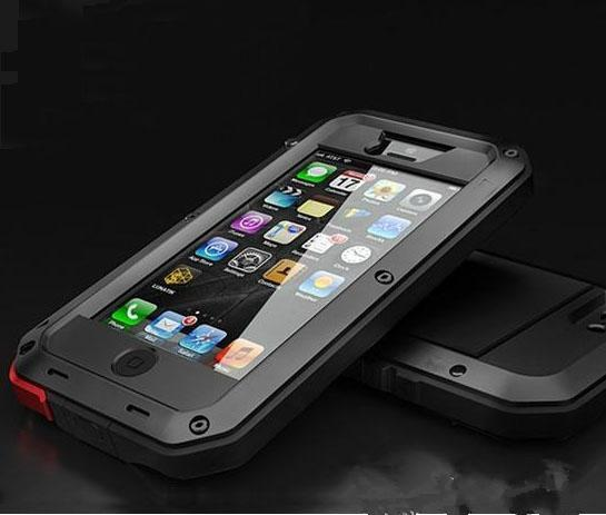 Aluminum Glass Shockproof Waterproof Case For Samsung Galaxy S5 S6 S7 edge Note 5 Power Gorilla Protect for iPhone X 6 6s 7 Plus Phone Cover