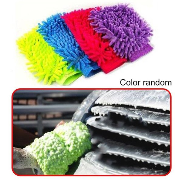 best selling Car Cleaning Glove Microfiber Mitt,Car wash mitt noodle Microfiber Wash Gloves car cleaning Microfiber mitt with free polishing cloth