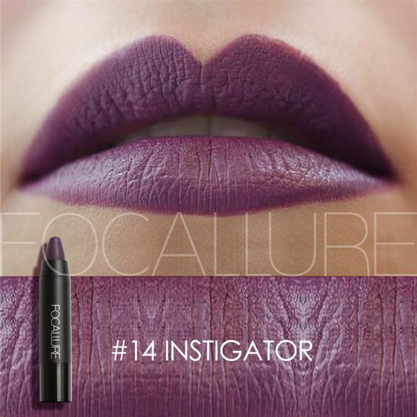FOCALLURE Cosmetics Matte Lipstick High Gloss Lip Make Up Lips Crayons Long Lasting Waterproof Lipsticks 27 Colors