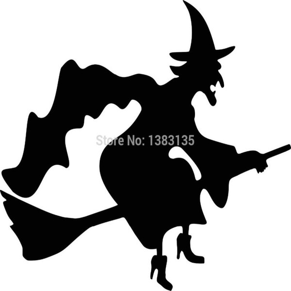 HotMeiNi Wholesale 20pcs/lot Evil Witch Funny Car Sticker For Truck Window Bumper Auto SUV Door Laptop Kayak Vinyl Decal 8 Colors