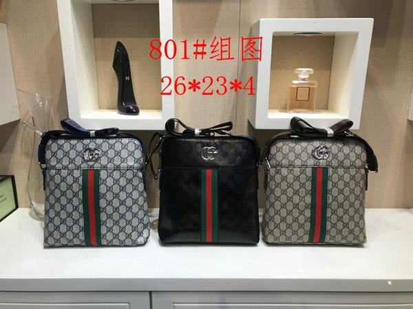 2018 Famous Brand Leather Men Bag Maletín Casual Business Leather Mens Messenger Bag Vintage Crossbody de los hombres bolsa bolsas masculinasB
