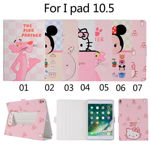 Quente!! Impressão dos desenhos animados tpu tampa traseira para apple ipad pro 10.5 2017 2018 universal tablet pu leather case + caneta