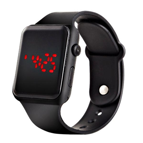 Hot New Men's Watch Digital Silicone Sport Wristwatch for Men Male Boy Red Light