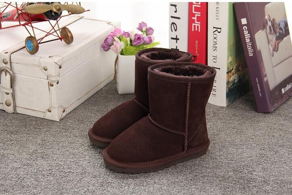 Christmas Boots For Girls.Christmas Winter Boots For Girls Factory Fashion 5281 High Tube Children Shoes Students Tendon Bottom Kids Snow Boots Fur One Leather Boots Girls