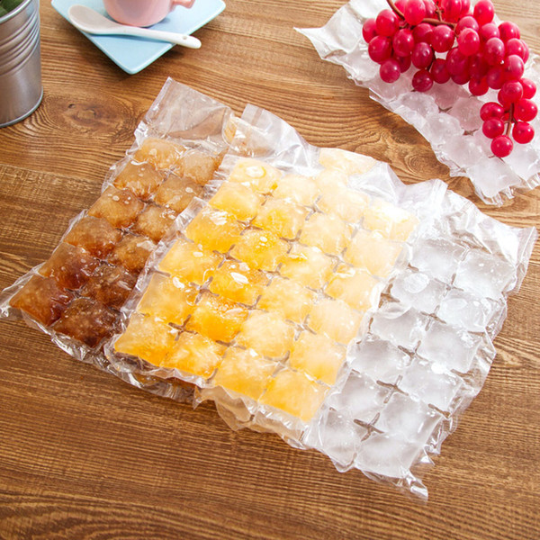 Disposable Ice Cube Bags 10Pcs Frozen Juice Liquid Clear Sealed Pack Party Bar BBQ Ice Cream Model Ice Cube Tray Mold
