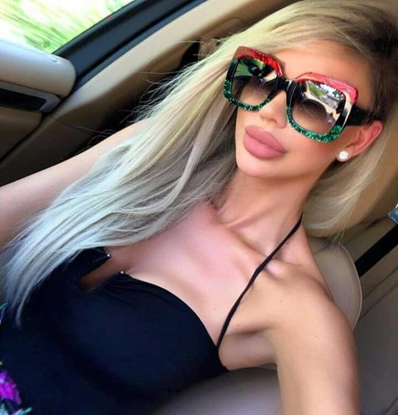 best selling High quality luxury WOMEN retro big frame brand designer vintage Eyewear Sun glasses For women shade Fashion UV sunglasses with case