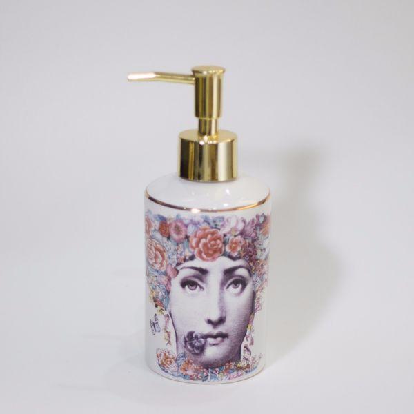 Ceramic illustration Bathroom Hand Pump Liquid Soap Dispenser Exquisite Hotel Lotion Shampoo Bottle Dispenser home decoration