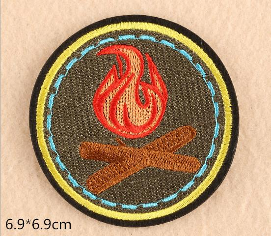2019 Flame Iron on embroidered patches for sewing Bag clothing patches iron  on sewing accessories applique a989095d96ba