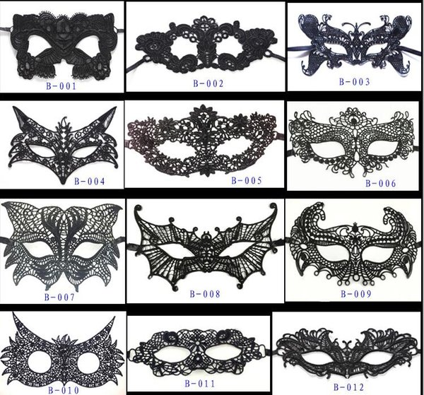 20 Packs Masquerade Masks Black Lace Eye Mask Lady Sexy Venetian Party Masks for Women Halloween Party Costume Ball Prom Dress