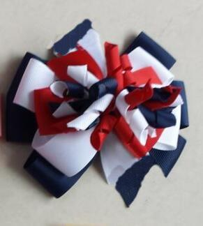 20pcs M2MG Gymboree Baby Hairbows Layered Korker Curlies Ribbon Hair Bows clips Boutique Corker for Children Kids Headwear headbabd PD014