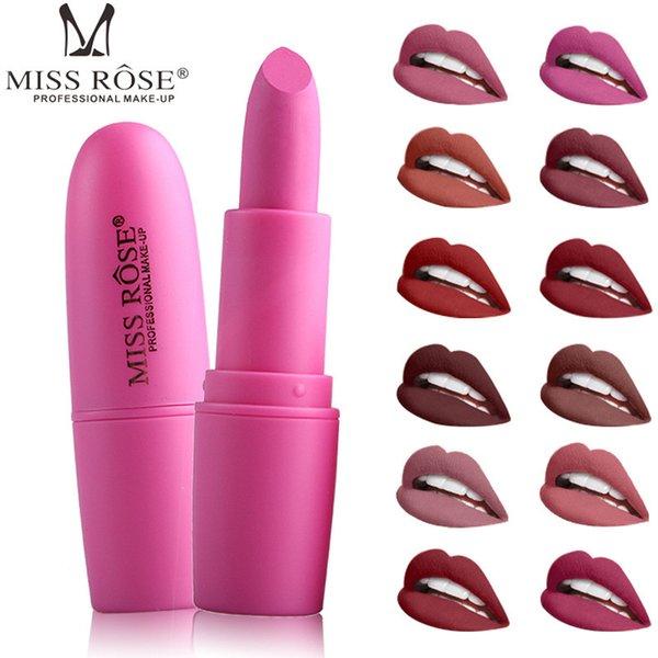 Miss Rose Nude Lipstick Waterproof Long Lasting Matte Lipsticks 20 Styles Women Sexy Brand Lips Makeup Tool
