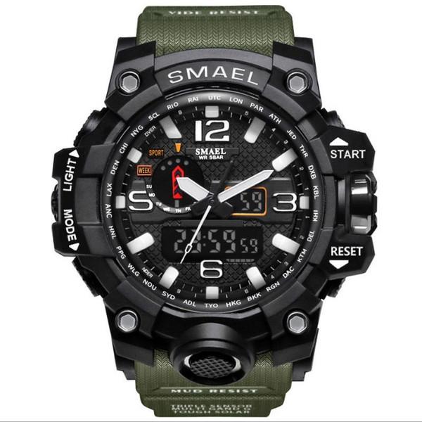 Men Military Watch 50m Waterproof Wristwatch LED Quartz Clock Sport Watch Male relogios masculino 1545 Sport S Shock Watch Men New style