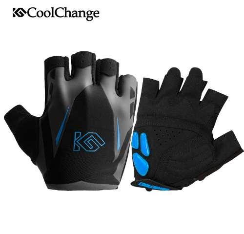 CoolChange Cycling Gloves Summer Sports Anti-sweat GEL Bicycle Gloves Anti-slip Breathable Half Finger Bike Gloves For Men Women