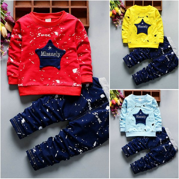 d44cecf21 2PCS Toddler Kids Baby Boy T-Shirt Tops Long Pants Toddler Clothes Set  Outfits