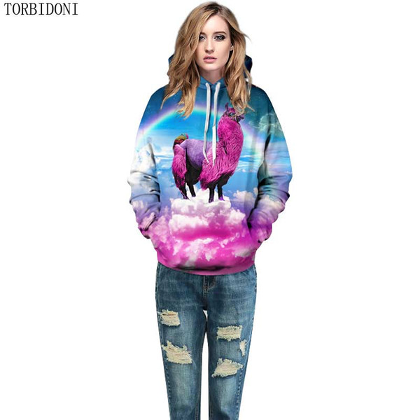unicorn printed women hoodies fashion 3d sweatshirts print couples tracksuit hoody hooded tracksuits pullovers eur, Black