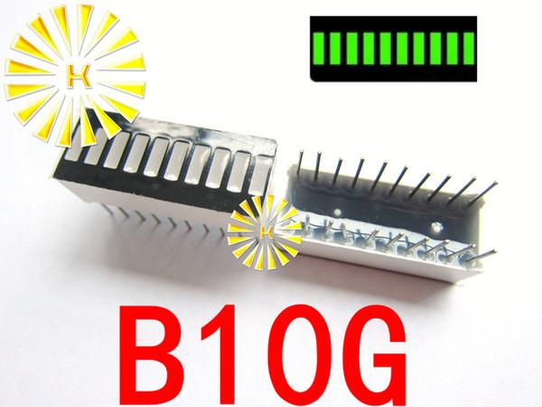 50 STÜCKEx 10 Segment Grün Rot Blau Gelb Jade Grün Weiß Digital Rohr LED Bar 10 * 25mm Display Modul B10G B10R B10BB B10BY B10BW