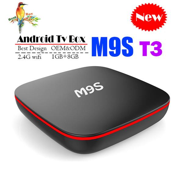 Best M9S T3 Allwinner H3 1G 8G Android 7.1 TV BOX Quad Core Ultra HD H.265 4K Stream Media Player Better Amlogic S905W H96 TX3 X96 H96 A95X