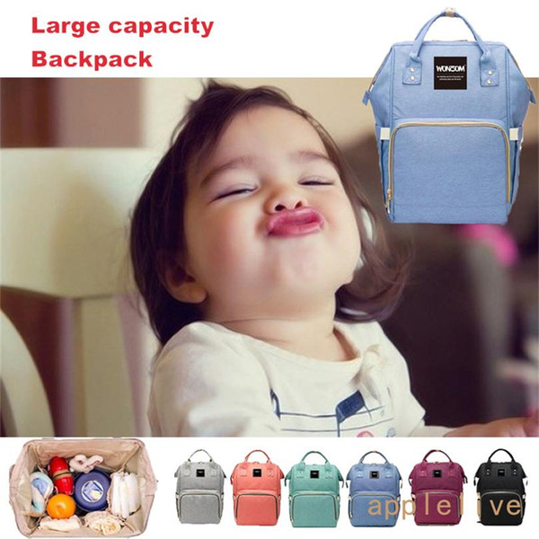 Wholesale Waterproof Multifunctional Baby Diaper Nappy Mummy Backpack Large Bottle Changing Bag Stuff Sacks