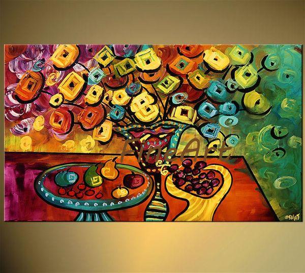 Handmade olio su tela tela pittura a olio del fiore a buon mercato di arte moderna dipinti su tela pittura a olio quadri d'arte