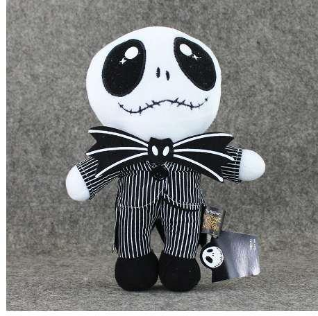 25cm The Nightmare Before Christmas Jack Skellington in Suit Plush Toy Stuffed Doll Gift for Kids