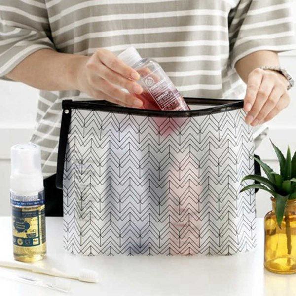 Women Cosmetic Bags PVC Toiletry Bags Fashion Clear Travel Organizer Necessary Beauty Case Makeup Bag Bath Wash Make Up Box