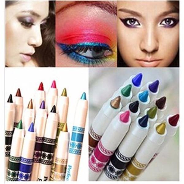 Nouvelle Vente Chaude 12 Couleur Glitter Lip liner Eye Shadow eye liner Crayon Stylo Cosmétique Maquillage Ensemble