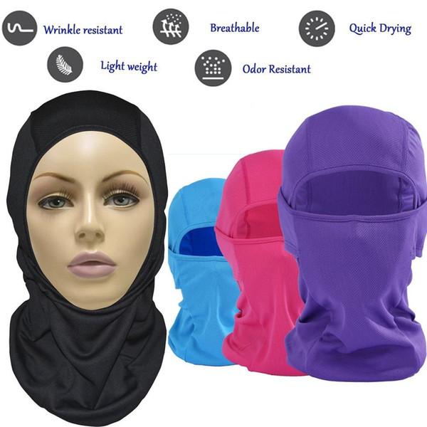 Summer Breathable CS Full Face Mask Motorcycle Helmet Mouth Cover Outdoor Biking Ski Eye Open Protective Headgear Sun-protection BBA223